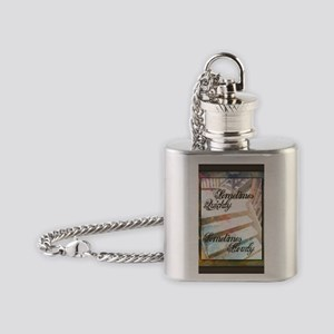 Sometimes Quickly, Sometimes Slowly Flask Necklace