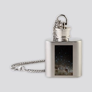 Centaurus and Crux constellations Flask Necklace