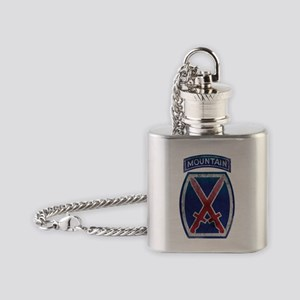 10th logo_GRUNGE 10x10 Flask Necklace