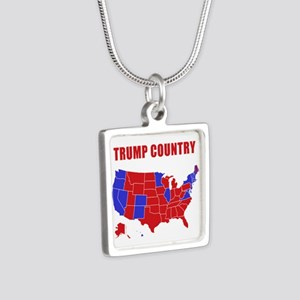 Trump Country Silver Square Necklace