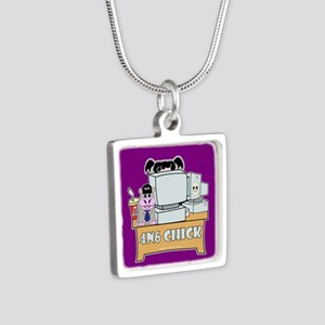 NCIS Abby Silver Square Necklace
