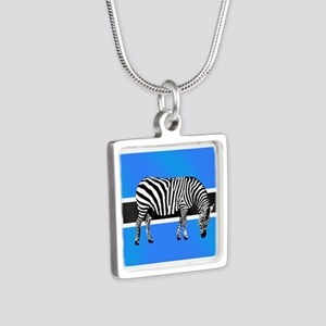 Botswana Zebra Flag Necklaces