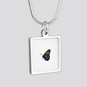 Rainbow Butterfly Gay Pride Necklaces