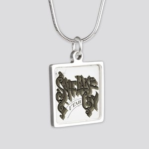 SLC Utah Silver Square Necklace