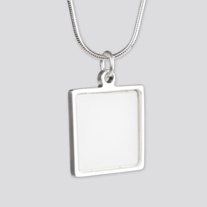 National Guard Logo round Silver Square Necklace