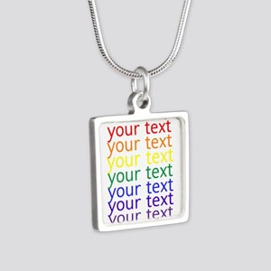 roygbiv text Necklaces