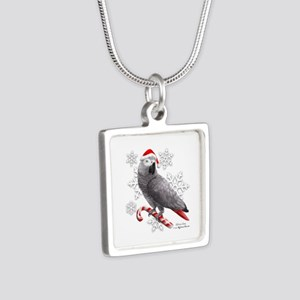 Christmas African Grey Parrot Necklaces