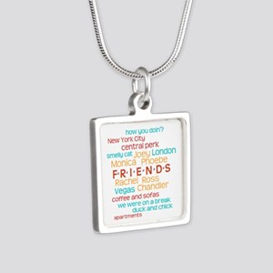 Friends TV Show Silver Square Necklace