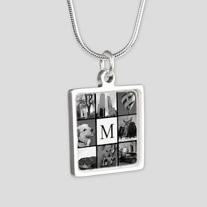 Monogrammed Photo Block Necklaces