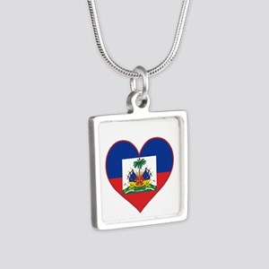 00-but-haitianflagheart Necklaces