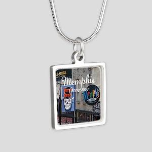 Memphis Silver Square Necklace