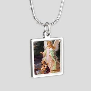 Guardian Angel with Children on Bridge Necklaces