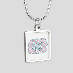 Sassy Gigi Blue Plaid Necklaces