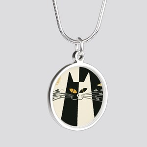 Black and White Cat; Vintage Poster Necklaces