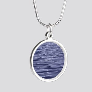 water Silver Round Necklace
