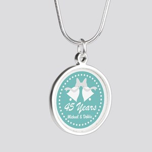 45th Anniversary Personalized Gift Necklaces
