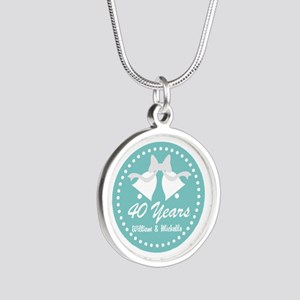 40th Anniversary Personalized Gift Necklaces