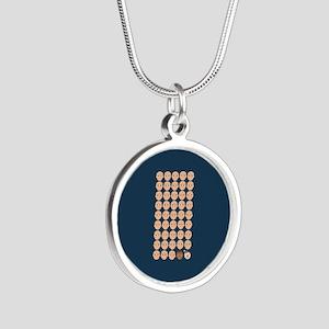 Emoji 45th President Silver Round Necklace