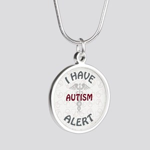 AUTISM Silver Round Necklace