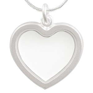 Custom Silver Heart Necklaces