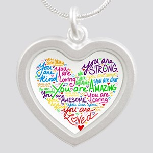 You Are Loved Silver Heart Necklace