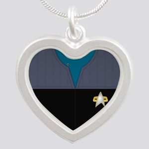 Star Trek DS9 Sci Chief PO Silver Heart Necklace