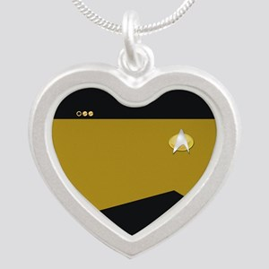 Star Trek: TNG Gold Lt. Cmdr Silver Heart Necklace