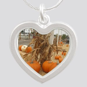 orange pumpkin stalk Necklaces