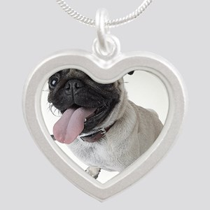 Funny Animals Silver Heart Necklaces - CafePress