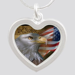 We The People Silver Heart Necklace