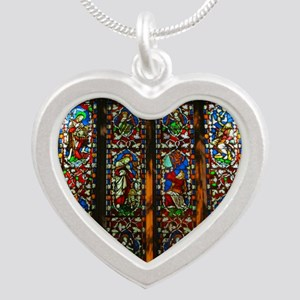 christ church cathedral wind Silver Heart Necklace