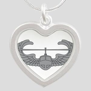 Air Assault Silver Heart Necklace