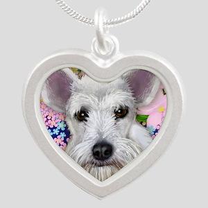 schnauzer3 copy Silver Heart Necklace