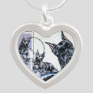 Schnauzercamb Silver Heart Necklace