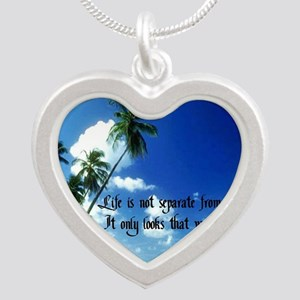 Life Goes On Silver Heart Necklace