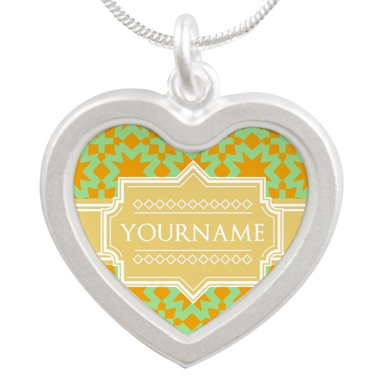 Yellow and Green Pattern Custom Name