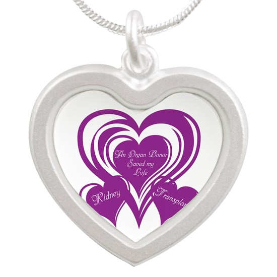 Purple Triple Heart Kidney Transplant