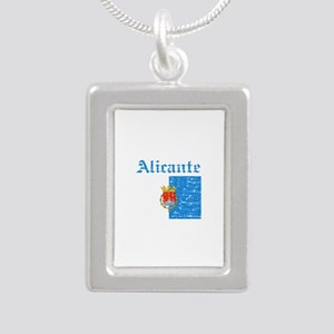 Alicante flag designs Silver Portrait Necklace