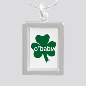 O'Baby Shamrock Silver Portrait Necklace