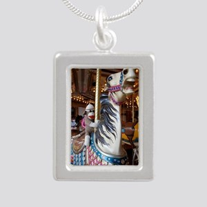 merrygoround Silver Portrait Necklace