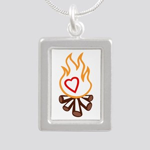 campfire applique Necklaces