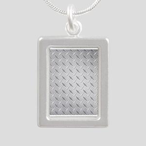 diamond Silver Portrait Necklace
