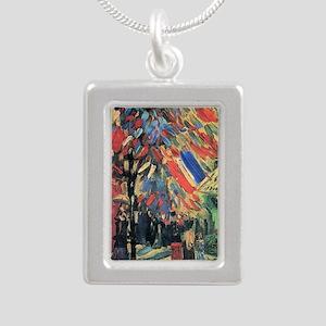 Vincent Van Gogh 14 July Silver Portrait Necklace