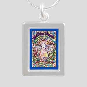 Spring Heart Cancer Ange Silver Portrait Necklace