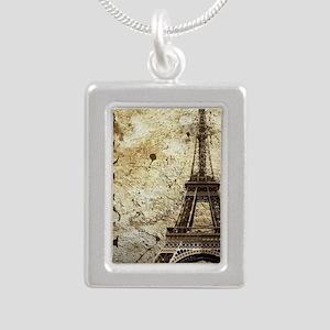 Paris Silver Portrait Necklace
