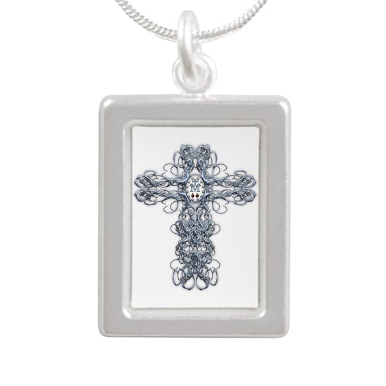 Wire Cross with Miraculous Medal