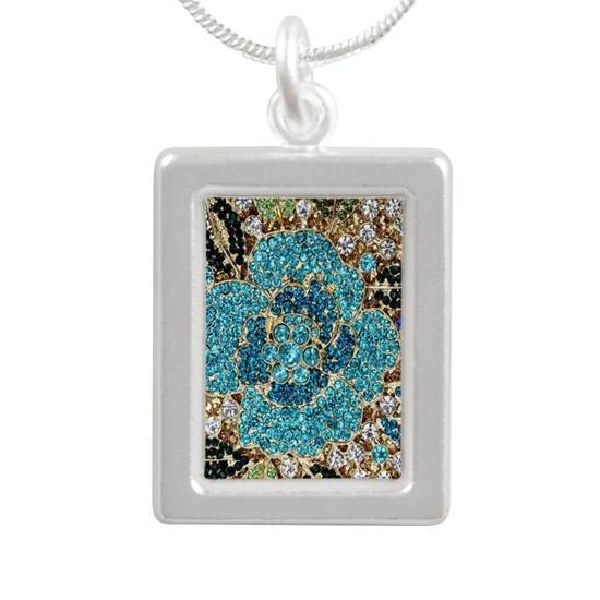 bohemian floral turquoise rhinestone