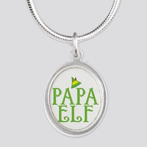 Papa Elf Silver Oval Necklace