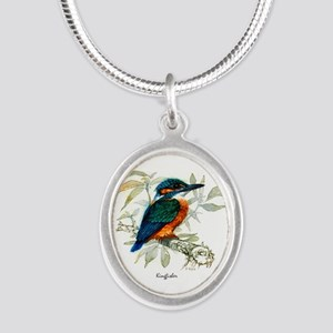 Kingfisher Peter Bere Design Silver Oval Necklace