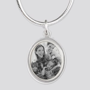 Add Your Photo Silver Oval Necklace Necklaces